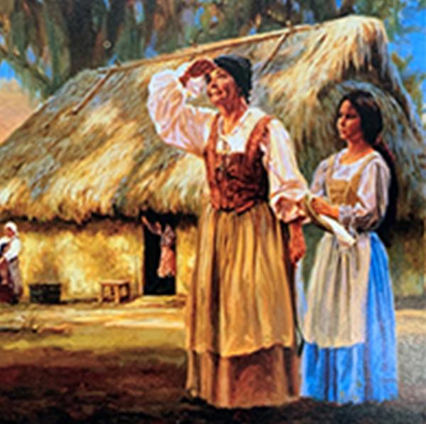 Spanish Women at Mission San Luis